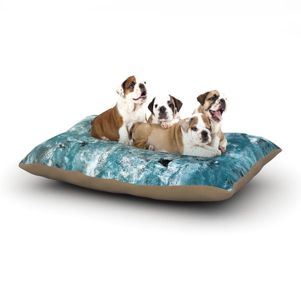 CarolLynn Tice 'Shuffling' Dog Pillow with Fleece Cozy Top Size: Small (40