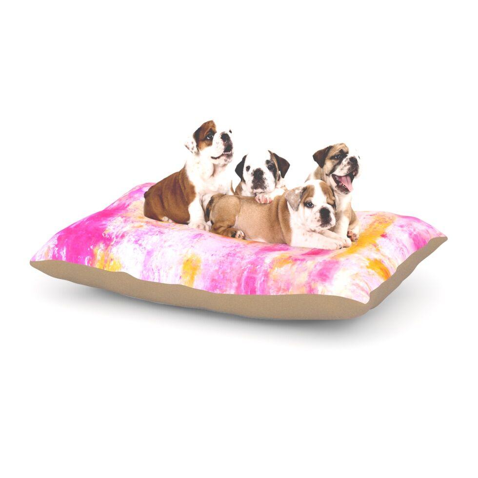 CarolLynn Tice 'Fancy' Dog Pillow with Fleece Cozy Top Size: Small (40