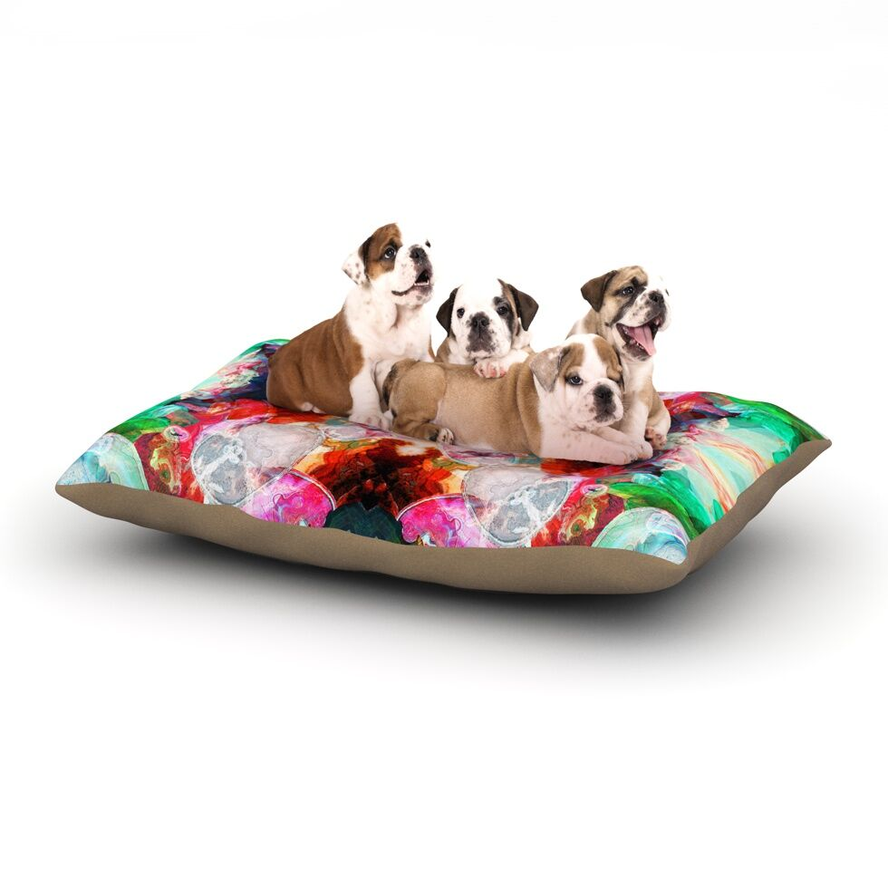 Danii Pollehn 'Achat I' Dog Pillow with Fleece Cozy Top Size: Small (40