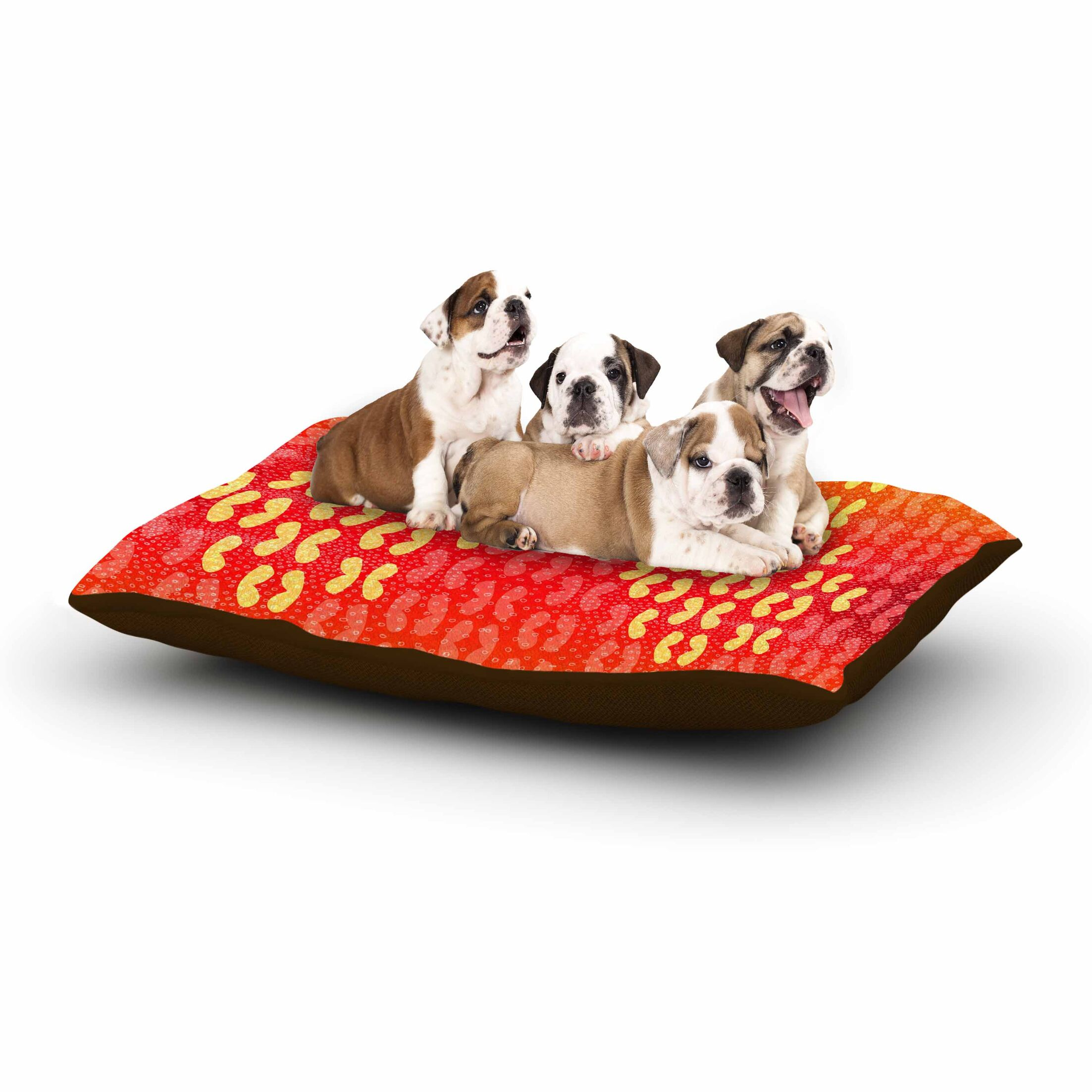 Dan Sekanwagi 'Butterfly Elements' Dog Pillow with Fleece Cozy Top