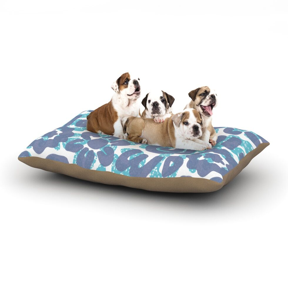 Chickaprint 'Tribus' Dog Pillow with Fleece Cozy Top Size: Small (40