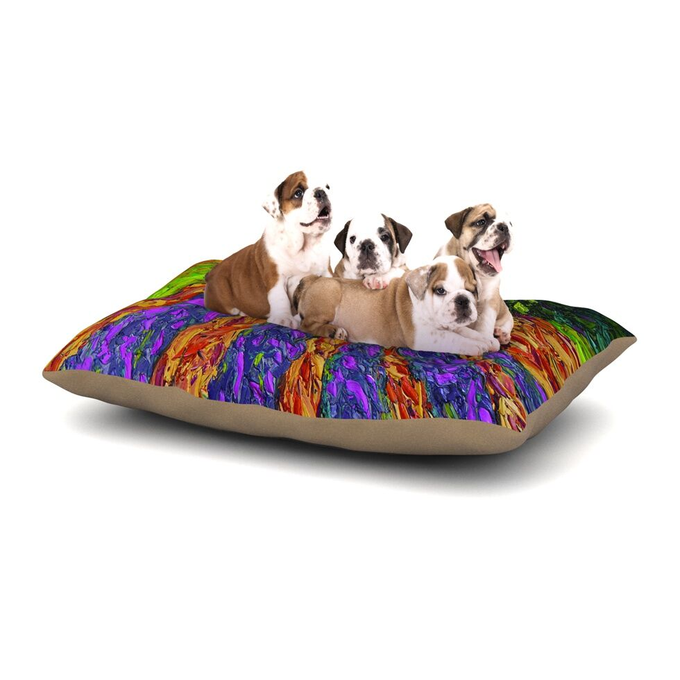 Jeff Ferst 'Flowers in the Field' Dog Pillow with Fleece Cozy Top Size: Small (40