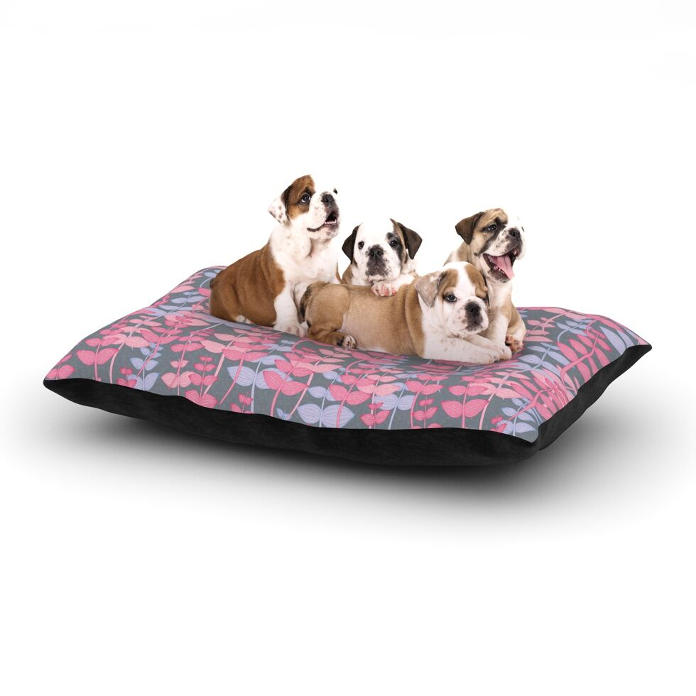Julia Grifol 'My Leaves Garden' Dog Pillow with Fleece Cozy Top Size: Small (40