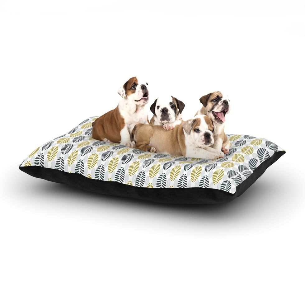 Julie Hamilton 'Seaport' Dog Pillow with Fleece Cozy Top Size: Small (40
