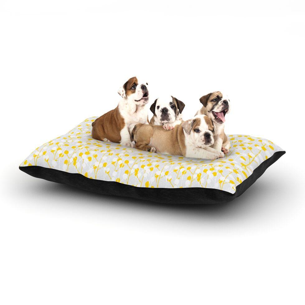 Julie Hamilton 'Lemon Drop' Dog Pillow with Fleece Cozy Top Size: Small (40