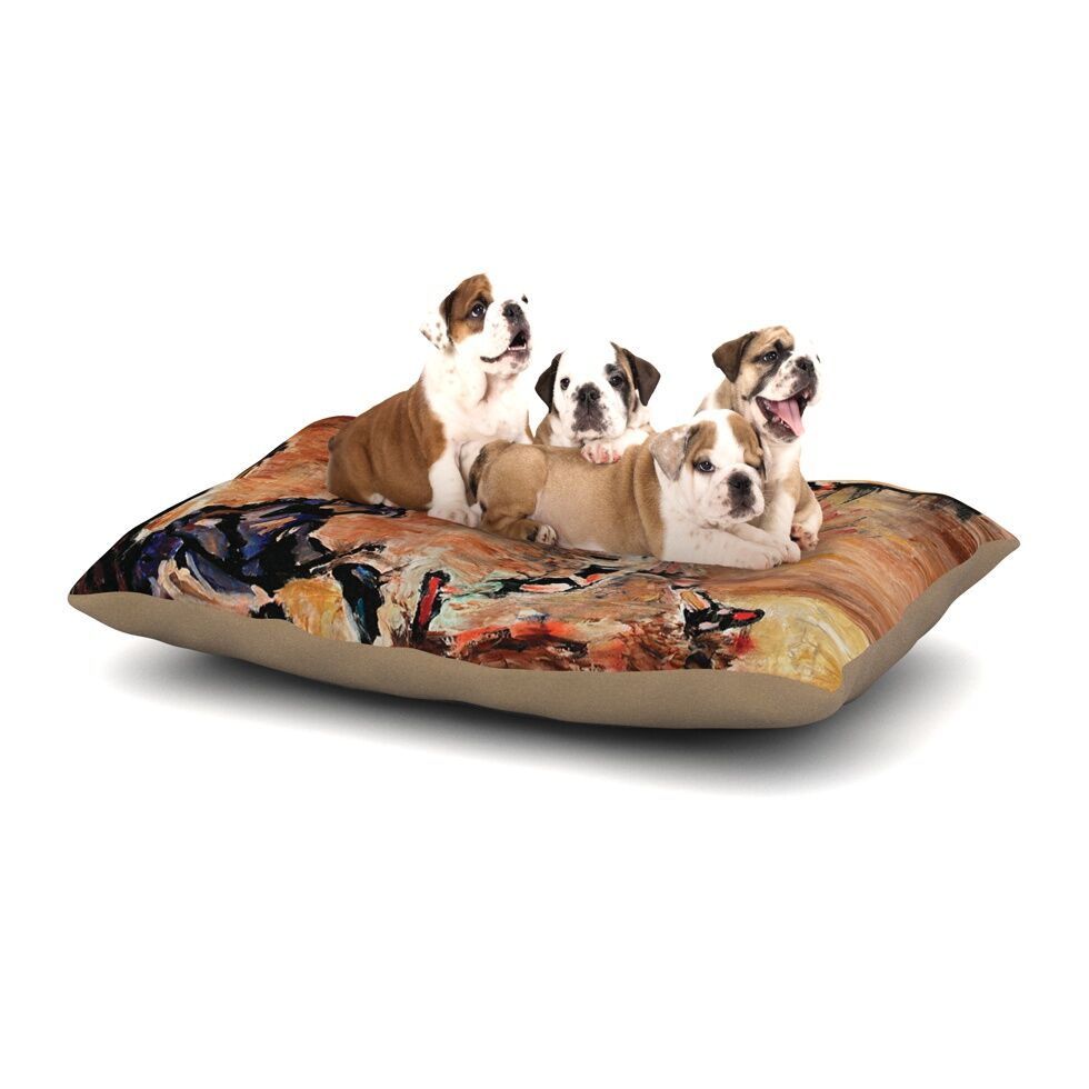 Josh Serafin 'It's Gone!' Dog Pillow with Fleece Cozy Top Size: Small (40