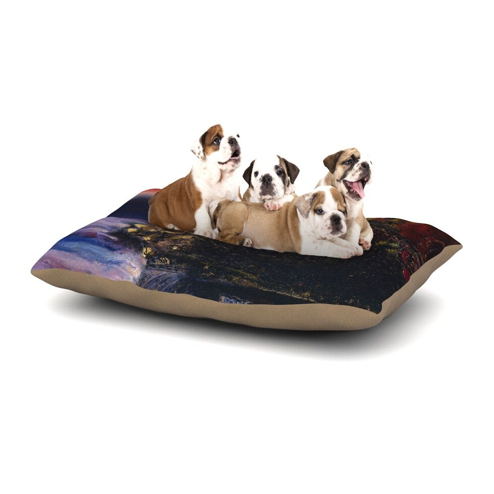Josh Serafin 'Seaside Village' Dog Pillow with Fleece Cozy Top Size: Small (40