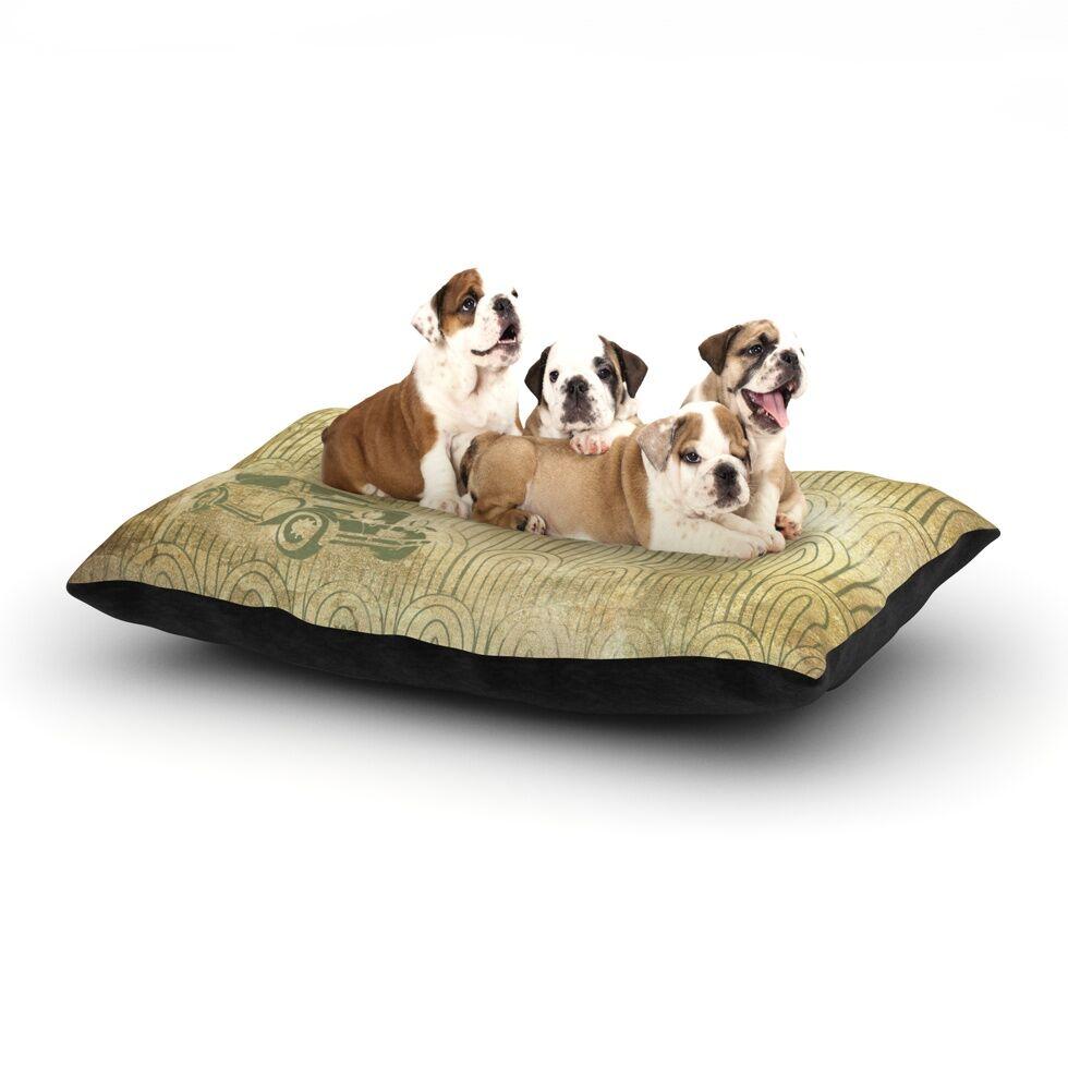 'Deco Car' Dog Pillow with Fleece Cozy Top Size: Small (40