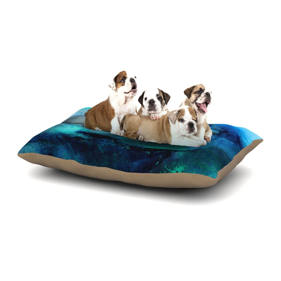 Josh Serafin 'Dolphin' Dog Pillow with Fleece Cozy Top Size: Small (40