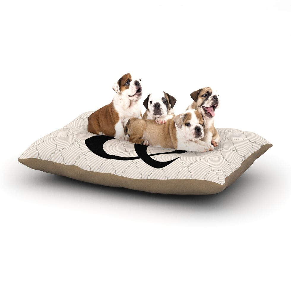 'Amperstamp' Dog Pillow with Fleece Cozy Top Size: Small (40
