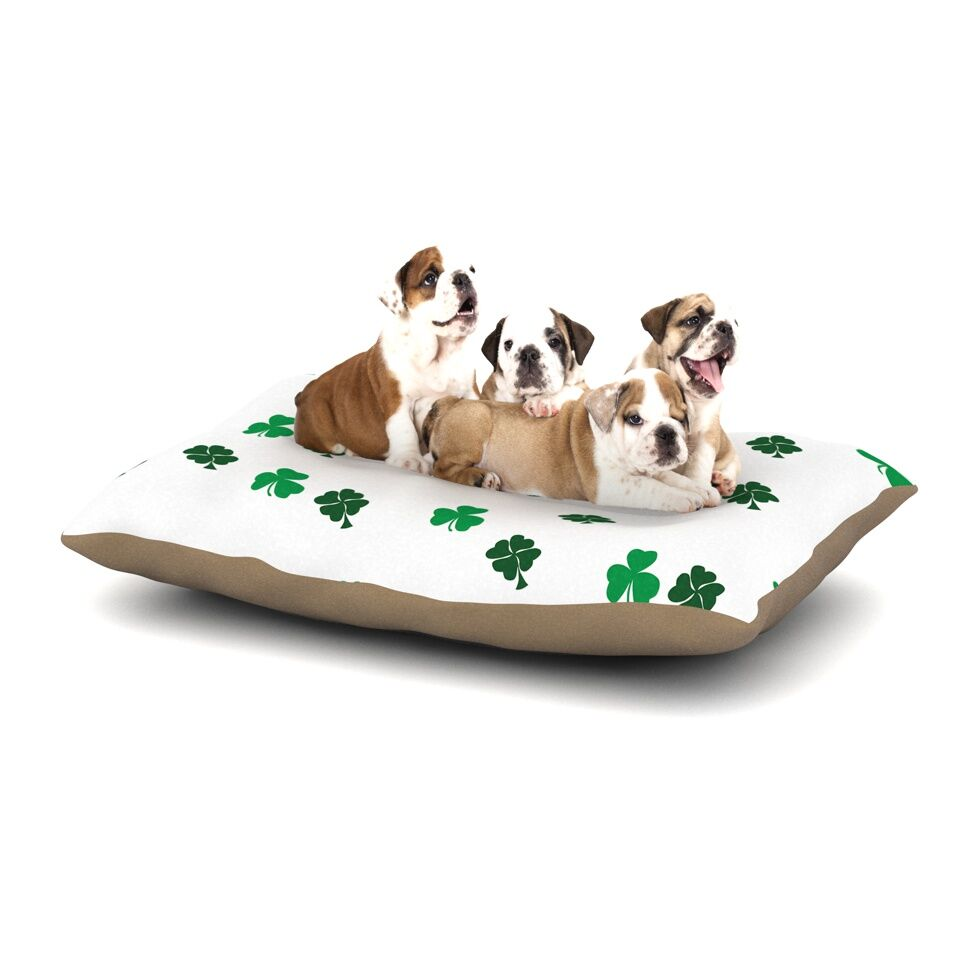 'Shamrockin' St. Patrick Dog Pillow with Fleece Cozy Top Size: Small (40