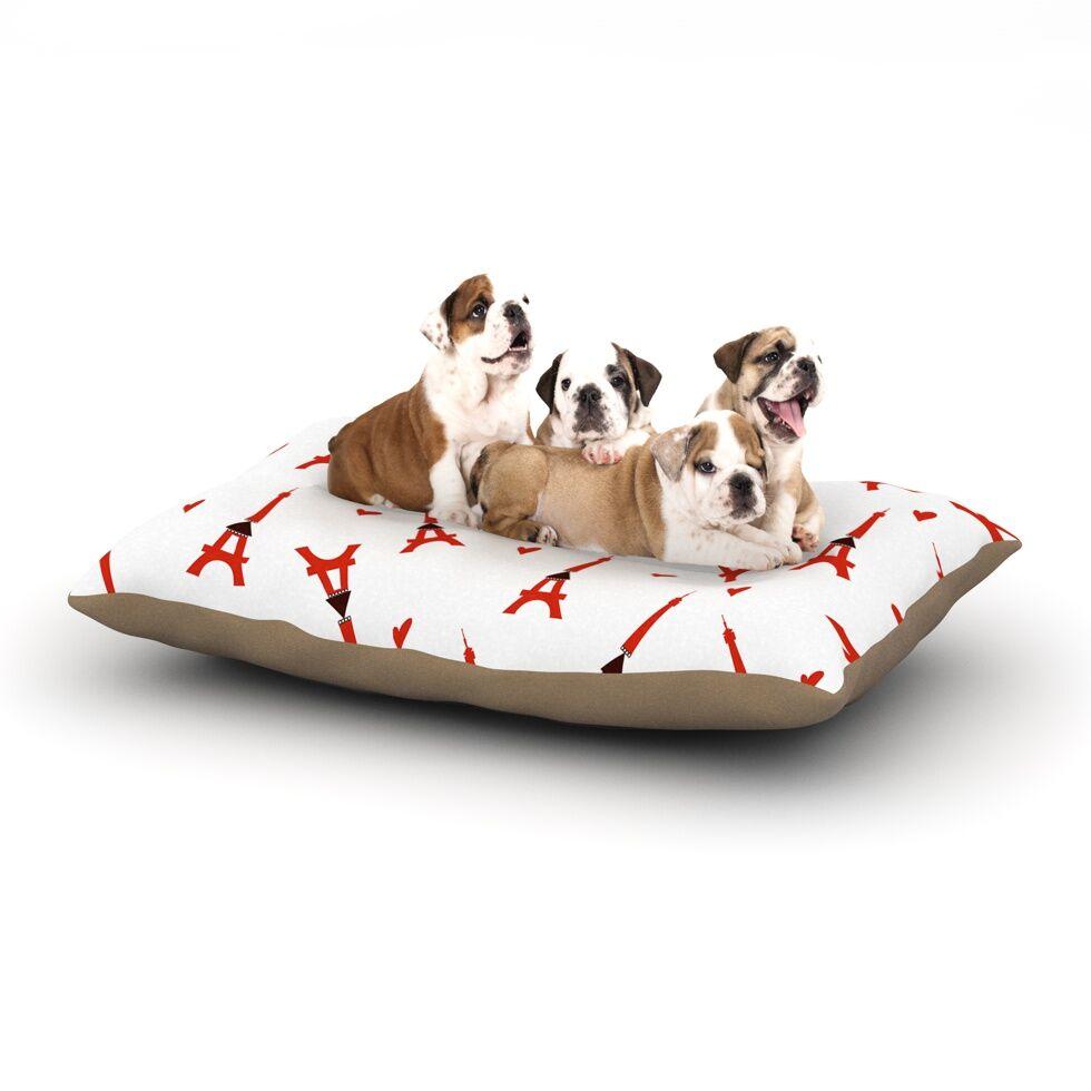 Louise 'Paris' Dog Pillow with Fleece Cozy Top Size: Small (40