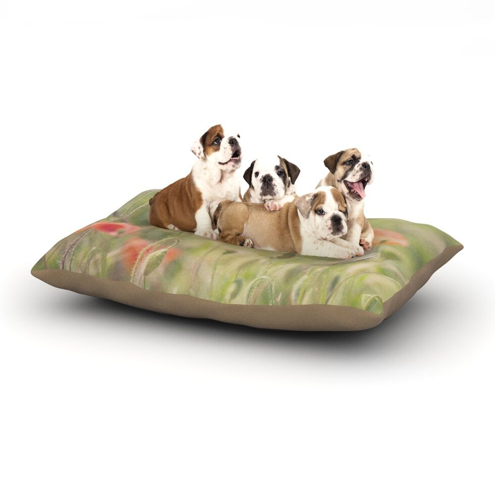 Laura Evans 'Fields of Remembrance' Dog Pillow with Fleece Cozy Top Size: Small (40
