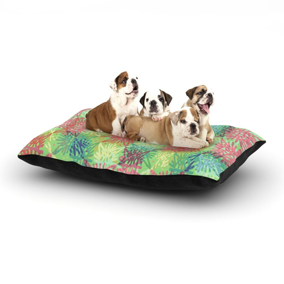 Laura Nicholson 'Multi Lacy' Dog Pillow with Fleece Cozy Top Size: Small (40