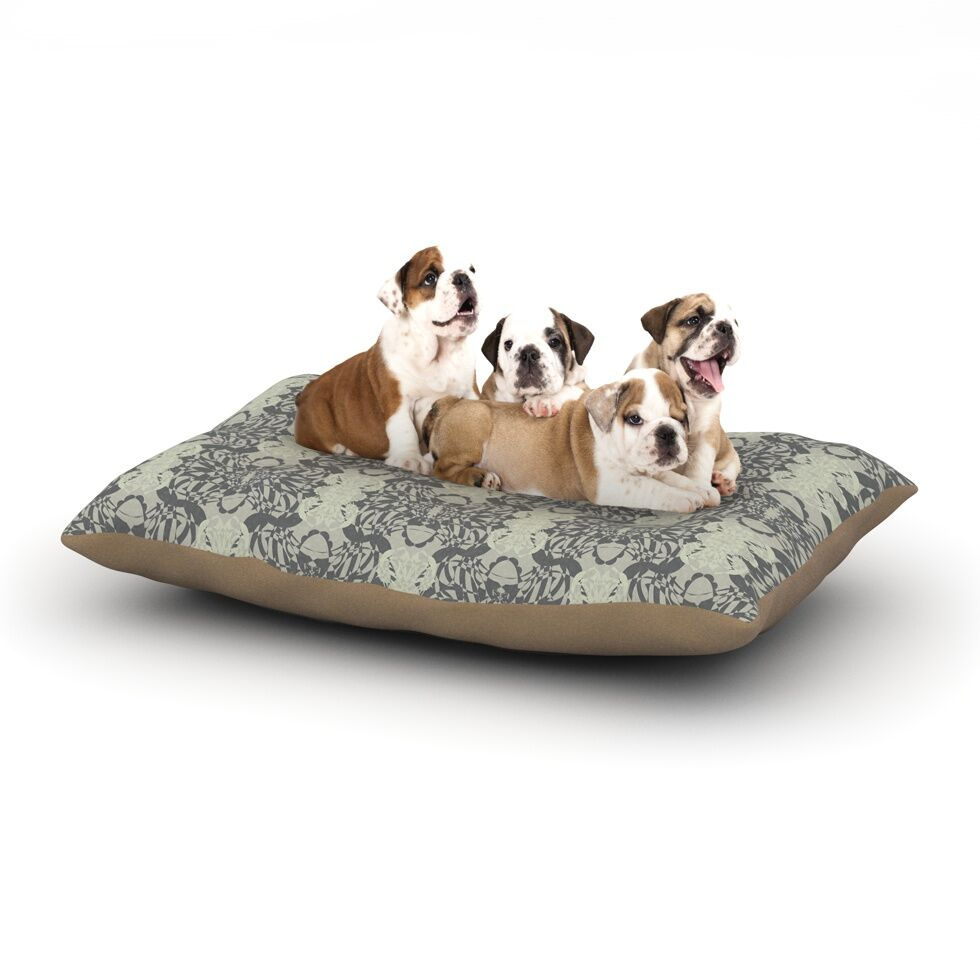 Mydeas 'Illusion Damask' Monochrome Dog Pillow with Fleece Cozy Top Size: Small (40