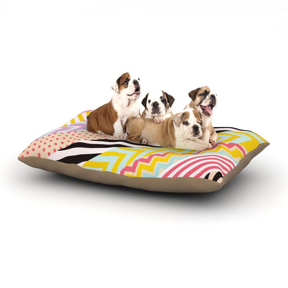 Louise Machado 'Diagonal Tape' Geometric Dog Pillow with Fleece Cozy Top Size: Small (40