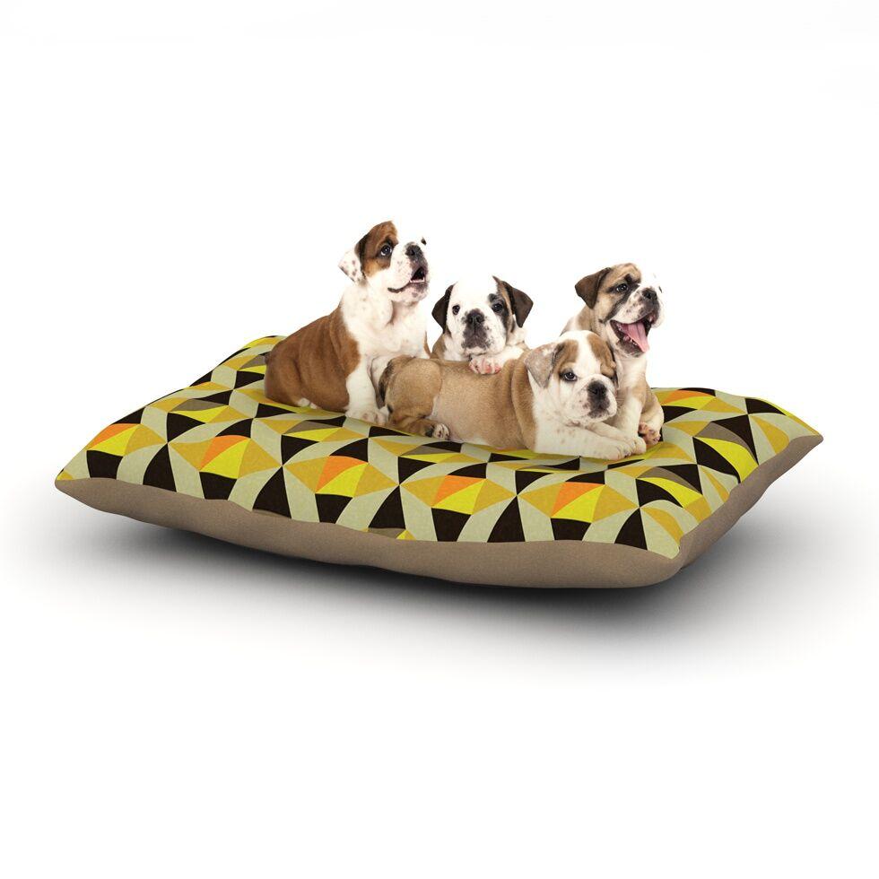 Louise Machado 'Onyx' Dog Pillow with Fleece Cozy Top Size: Small (40