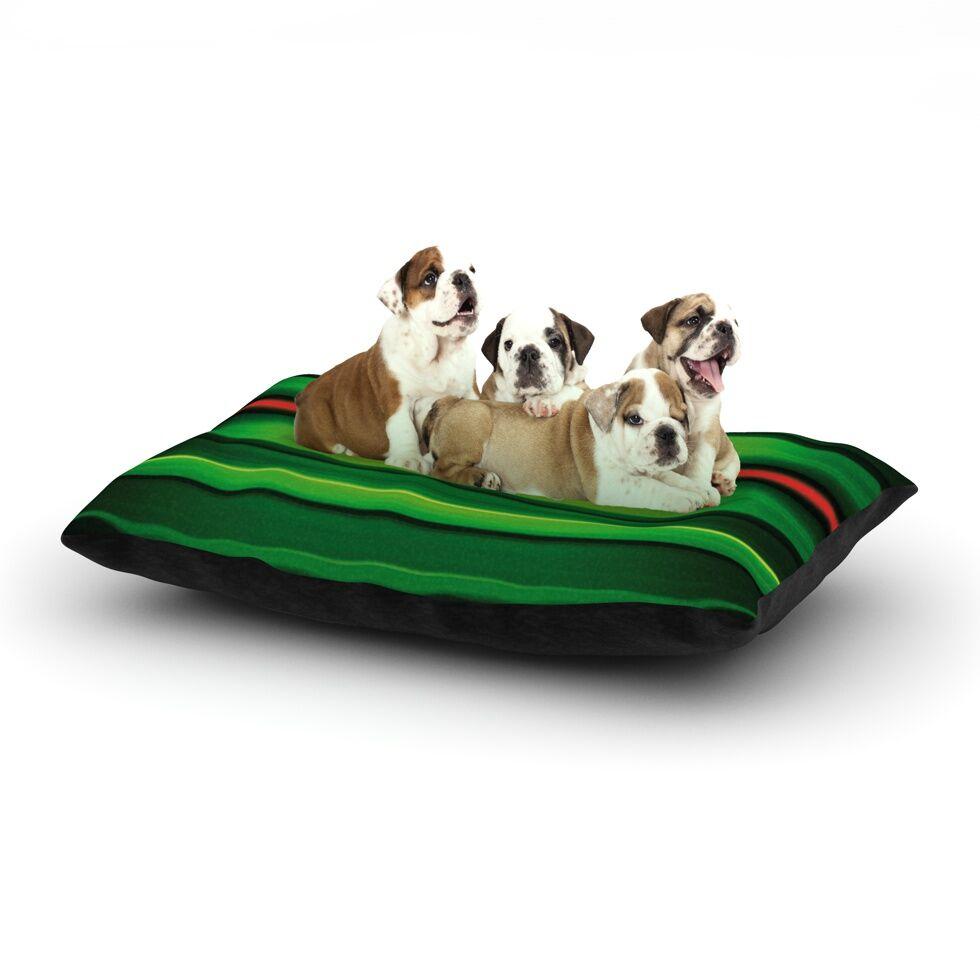 Matthias Hennig 'Stripes' Dog Pillow with Fleece Cozy Top Size: Small (40