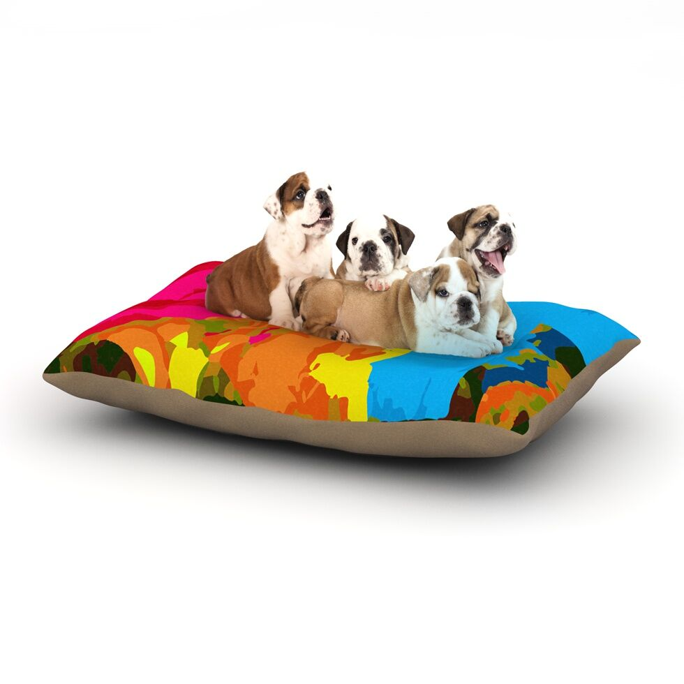Matthias Hennig 'Colored Plastic' Dog Pillow with Fleece Cozy Top Size: Small (40