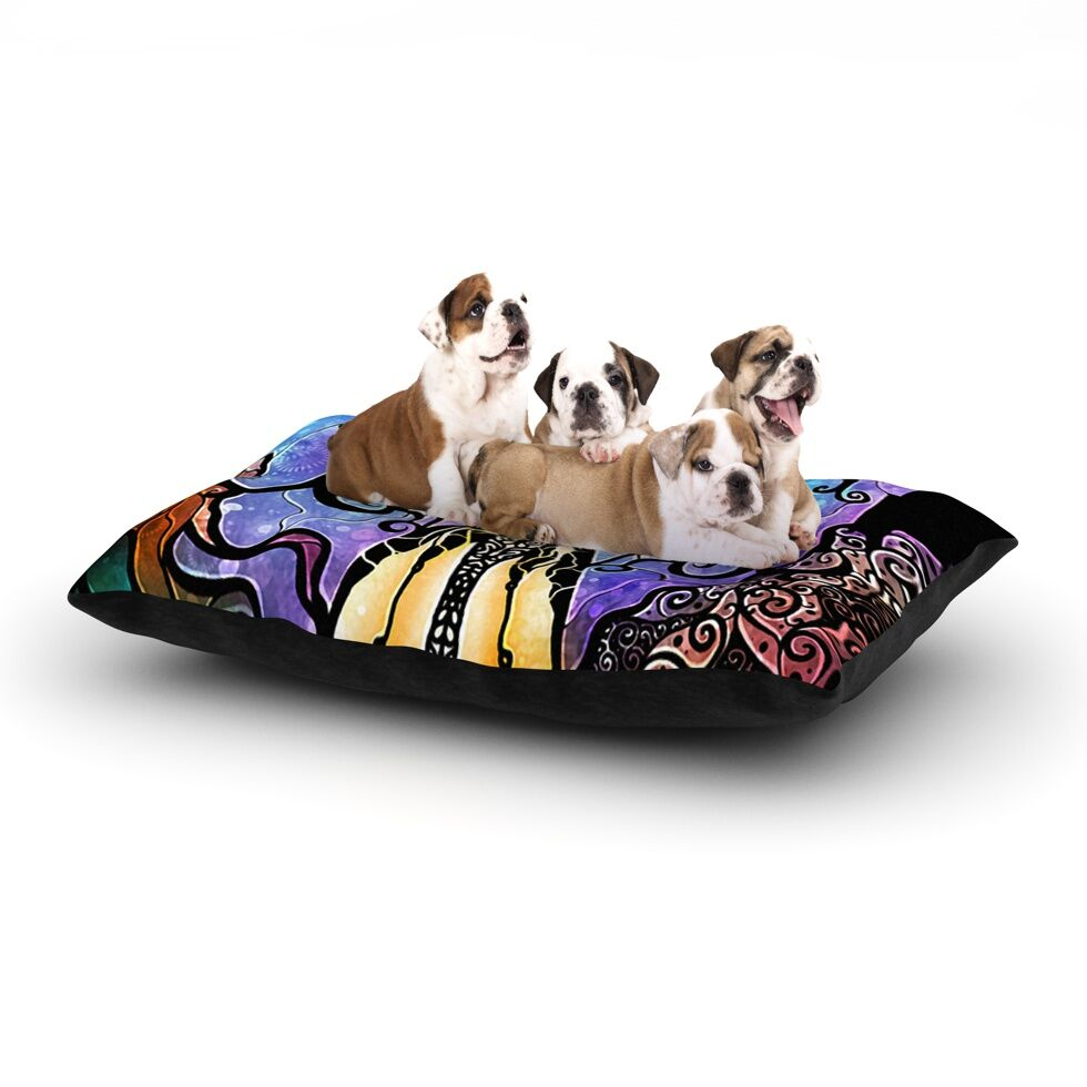 Mandie Manzano 'One Little Bite' Dog Pillow with Fleece Cozy Top Size: Small (40