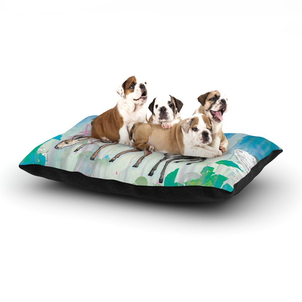 Mat Miller 'Glade' Dog Pillow with Fleece Cozy Top Size: Small (40