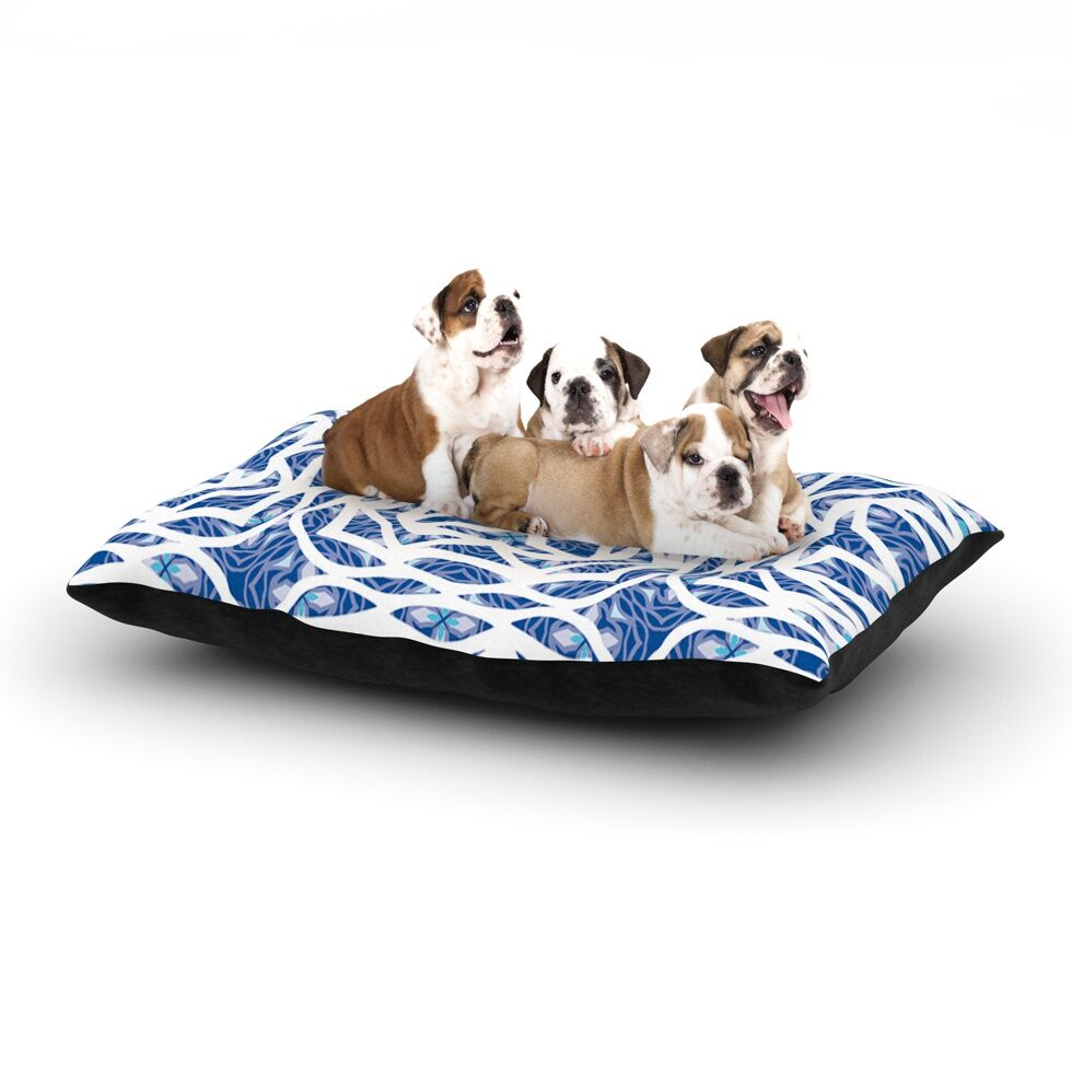 Miranda Mol 'Blue Explosion' Dog Pillow with Fleece Cozy Top Size: Small (40