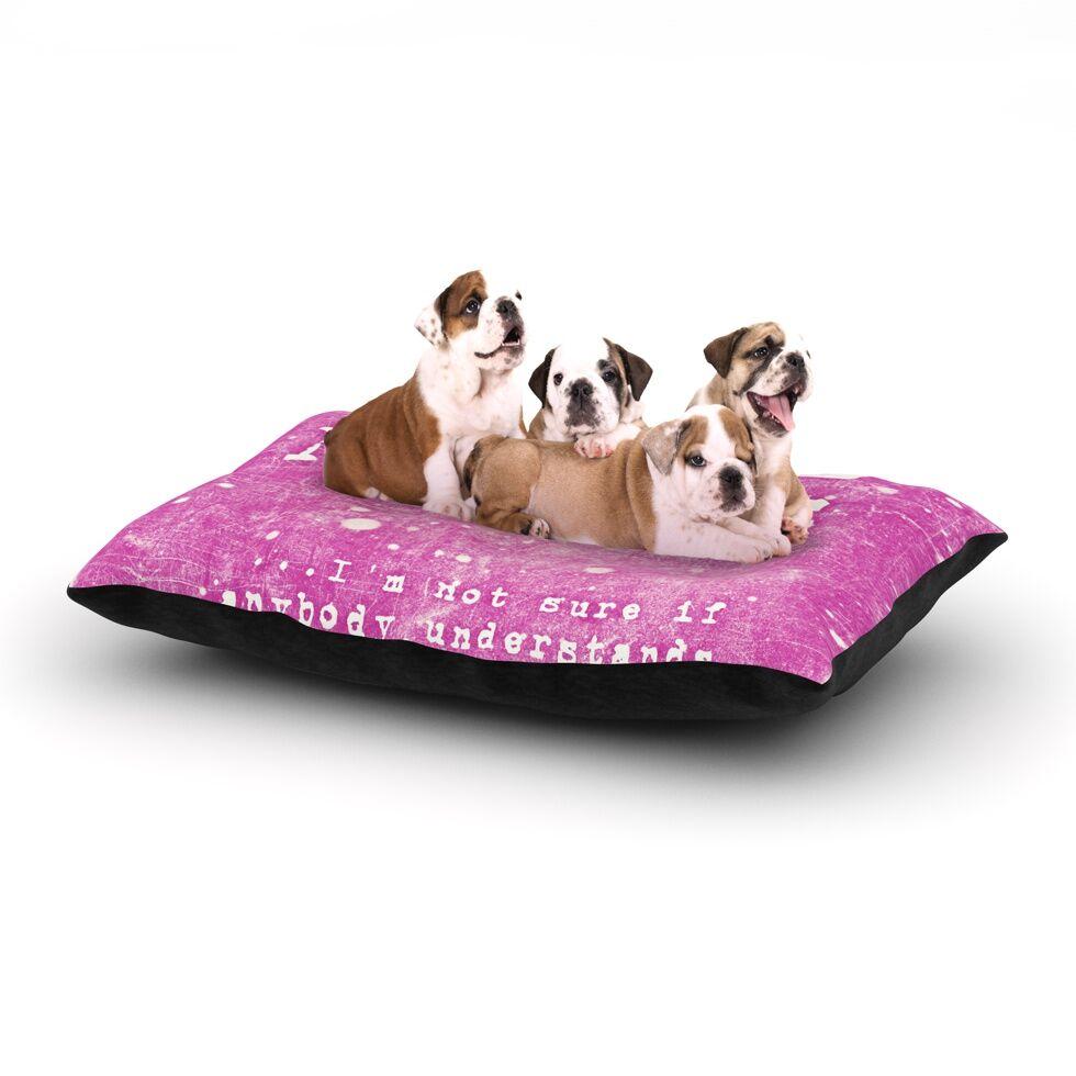 Monika Strigel 'Some Nights' Dog Pillow with Fleece Cozy Top Size: Small (40