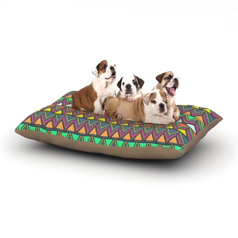 Nandita Singh 'Pattern Play' Chevron Dog Pillow with Fleece Cozy Top Size: Small (40