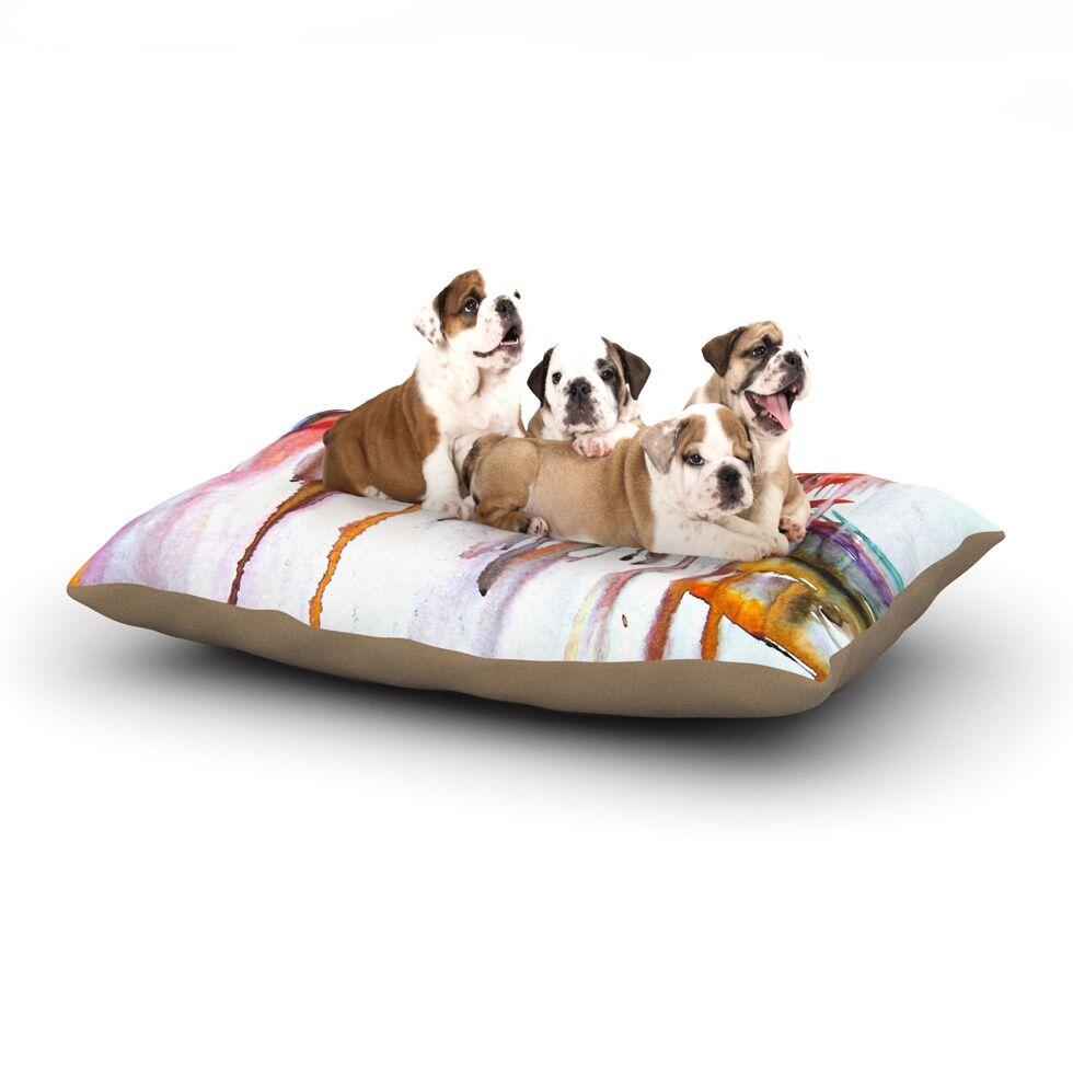 Malia Shields 'Cascade' Dog Pillow with Fleece Cozy Top Size: Small (40