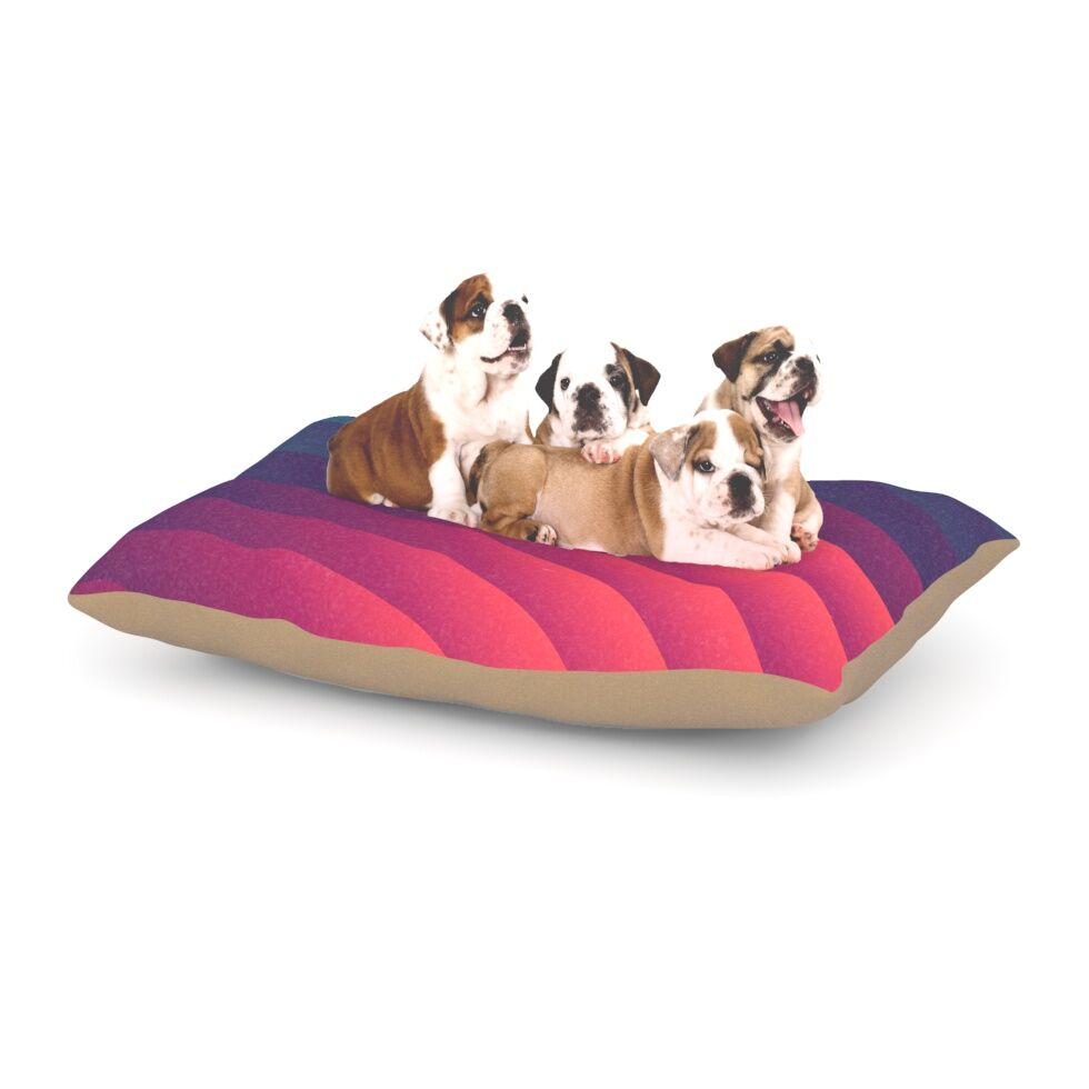 Danny Ivan 'Reservoir Lines' Geometric Dog Pillow with Fleece Cozy Top Size: Small (40