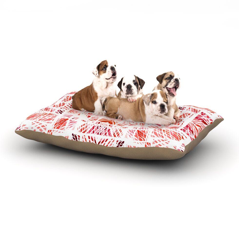 Danii Pollehn 'Scandanavian Square' Dog Pillow with Fleece Cozy Top Size: Small (40