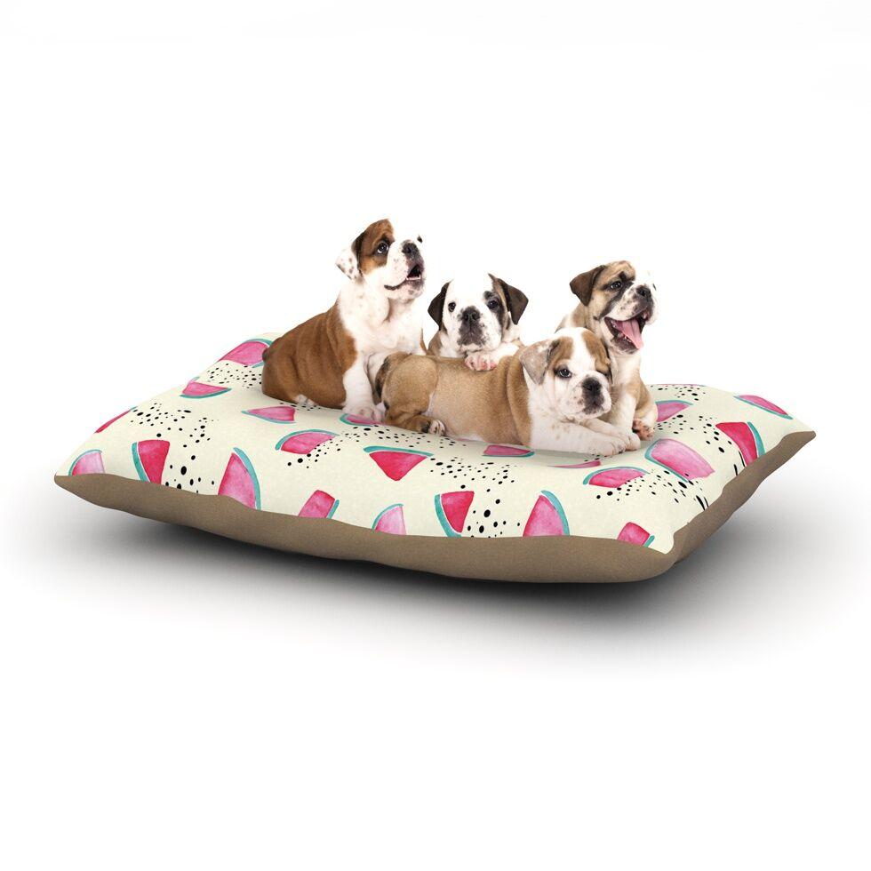 Danii Pollehn 'Watermelon' Food Dog Pillow with Fleece Cozy Top Size: Small (40
