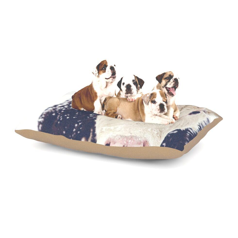 Debbra Obertanec 'Snowy Cow' Dog Pillow with Fleece Cozy Top Size: Small (40