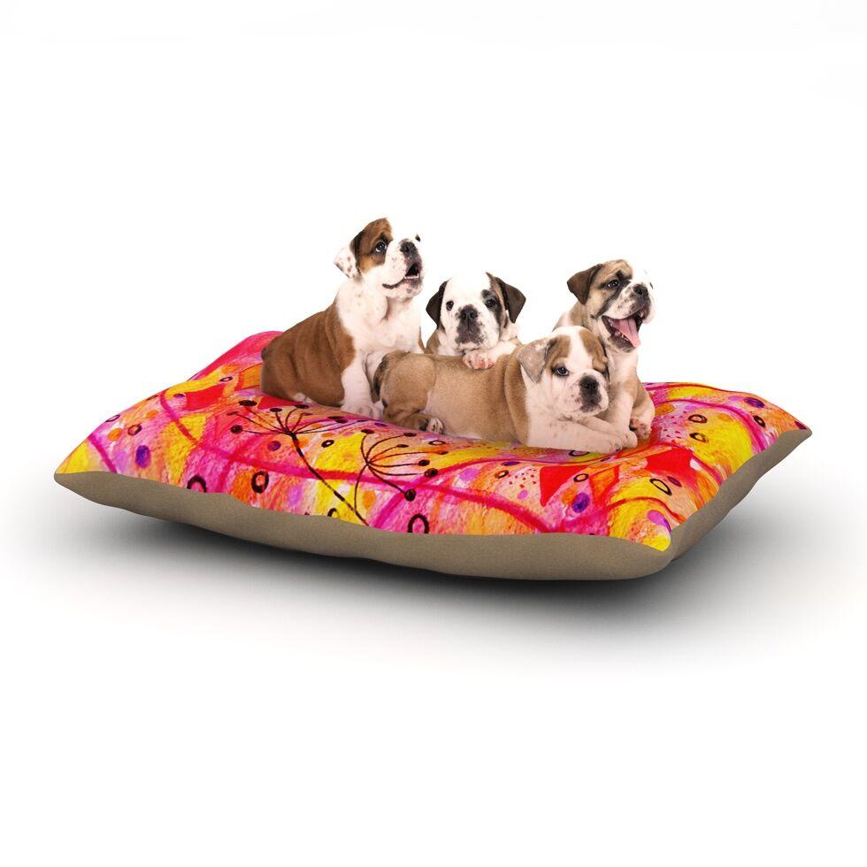 Ebi Emporium 'Into the Fall' Dog Pillow with Fleece Cozy Top Size: Small (40