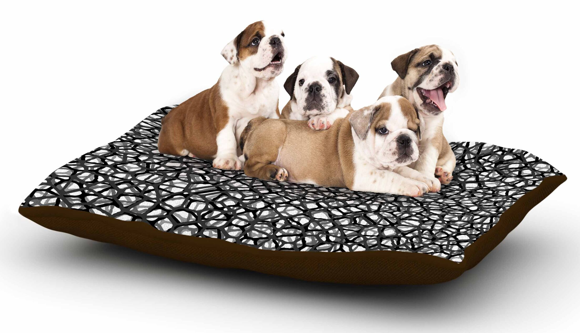 Trebam 'Staklo (Grays)' Digital Dog Pillow with Fleece Cozy Top