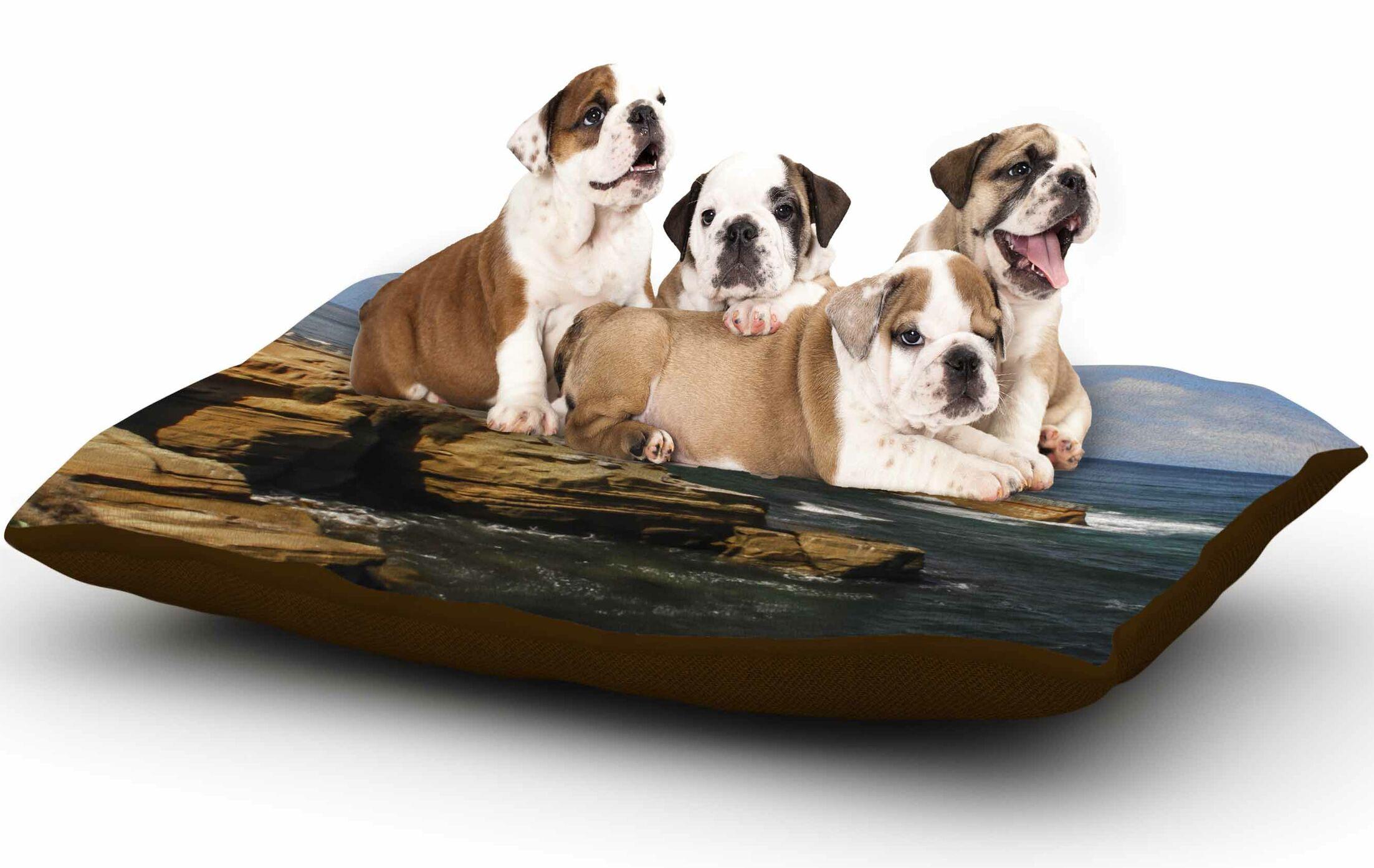 Nick Nareshni 'Ocean Jetty' Dog Pillow with Fleece Cozy Top