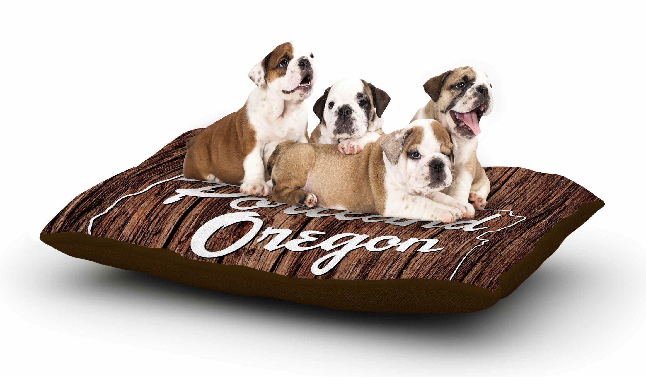 Juan Paolo 'Keep it Weird' Portland Dog Pillow with Fleece Cozy Top