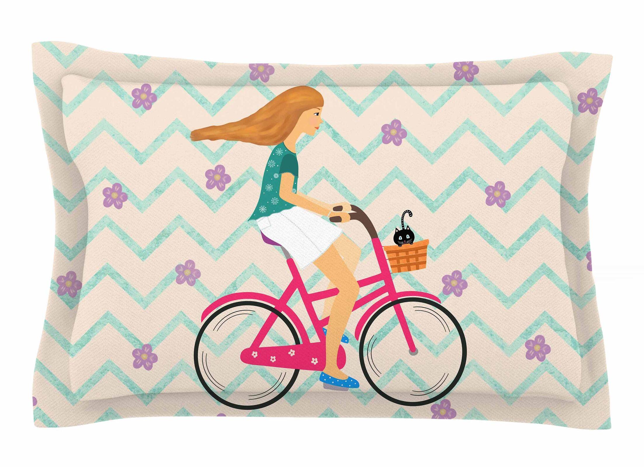 Cristina Bianco Design 'Bicycle Ride' Sham Size: Queen