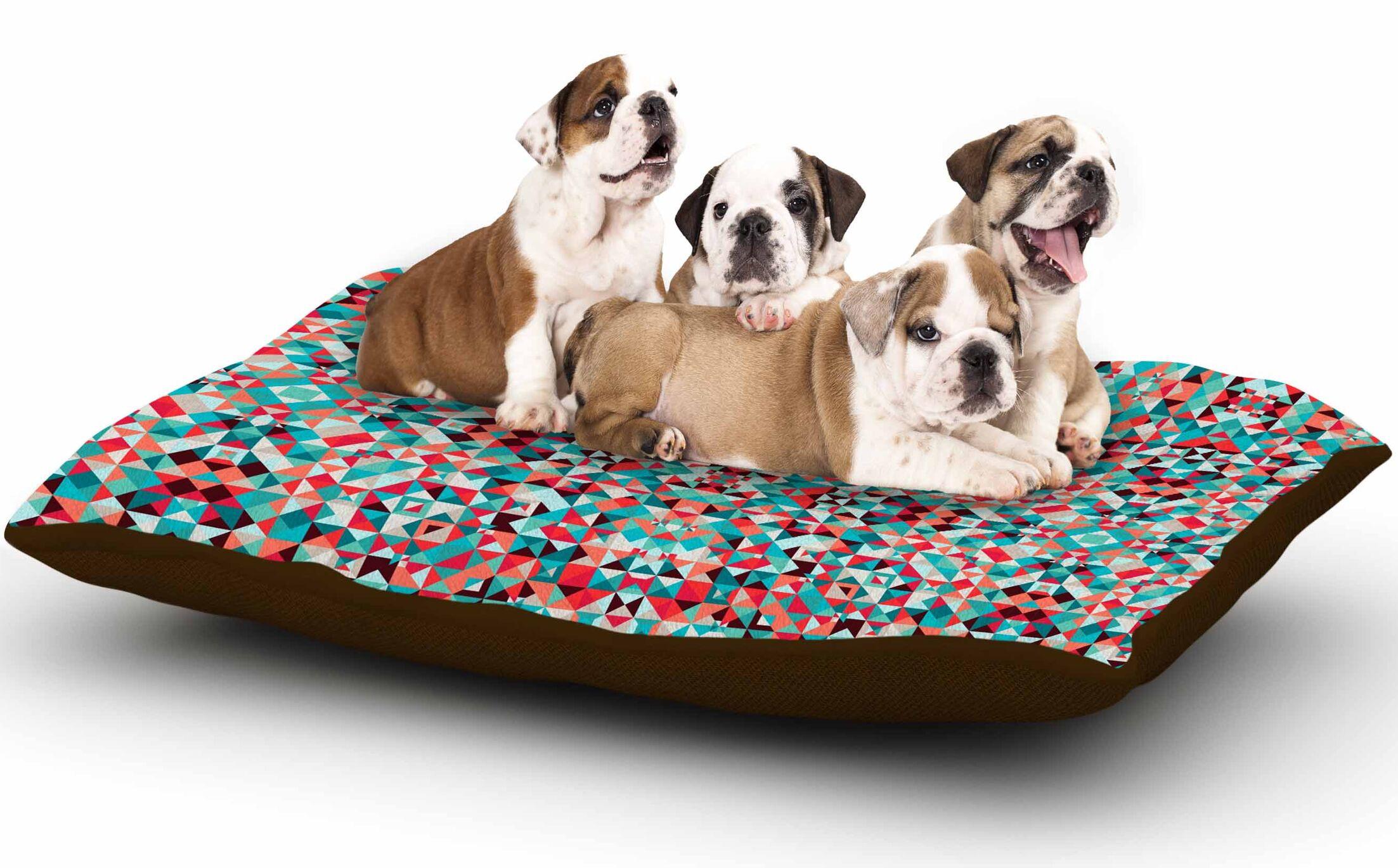Allison Soupcoff 'Tart' Digital Dog Pillow with Fleece Cozy Top Size: Small (40