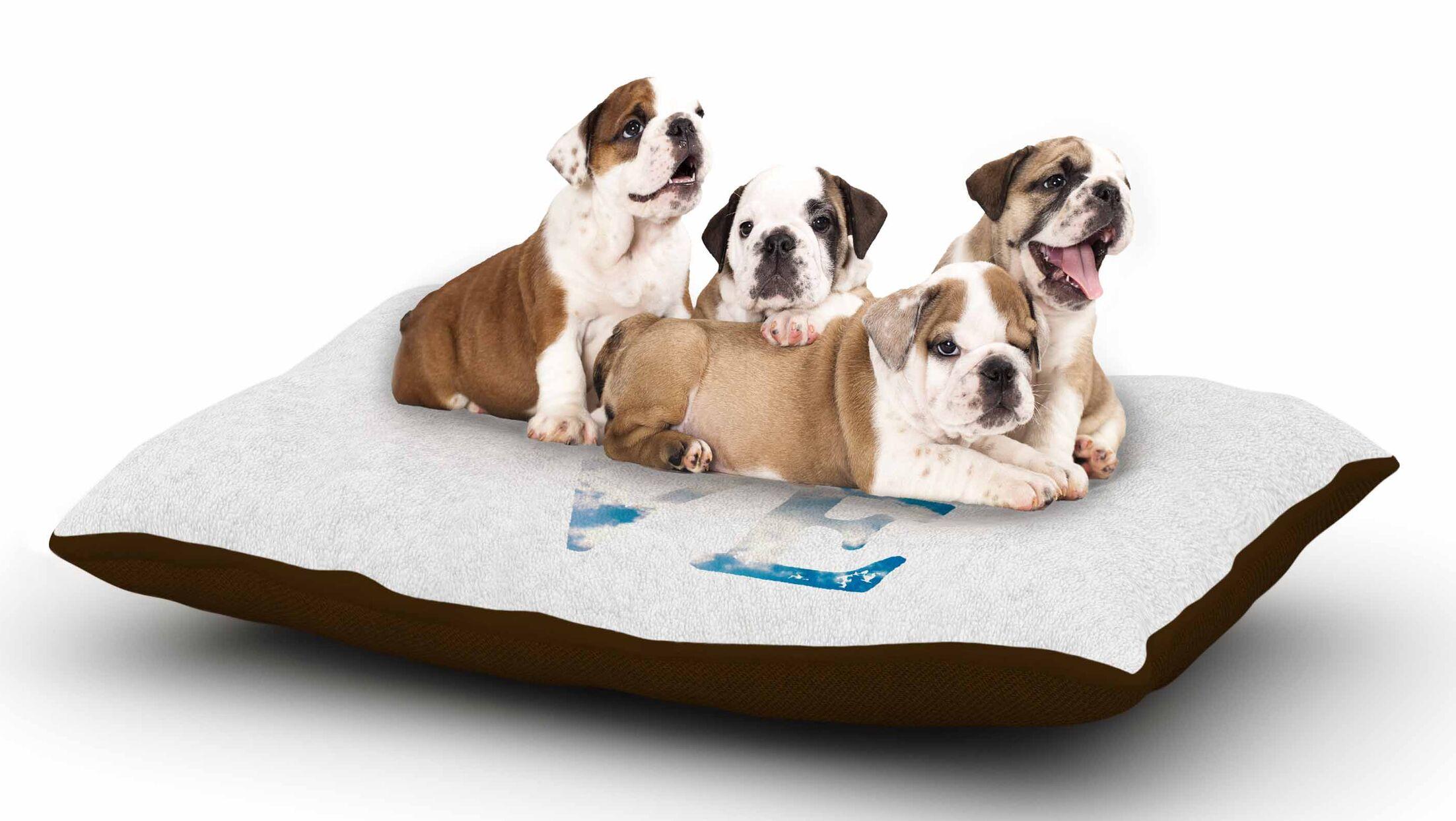 Robin Dickinson 'Love' Cloud Dog Pillow with Fleece Cozy Top