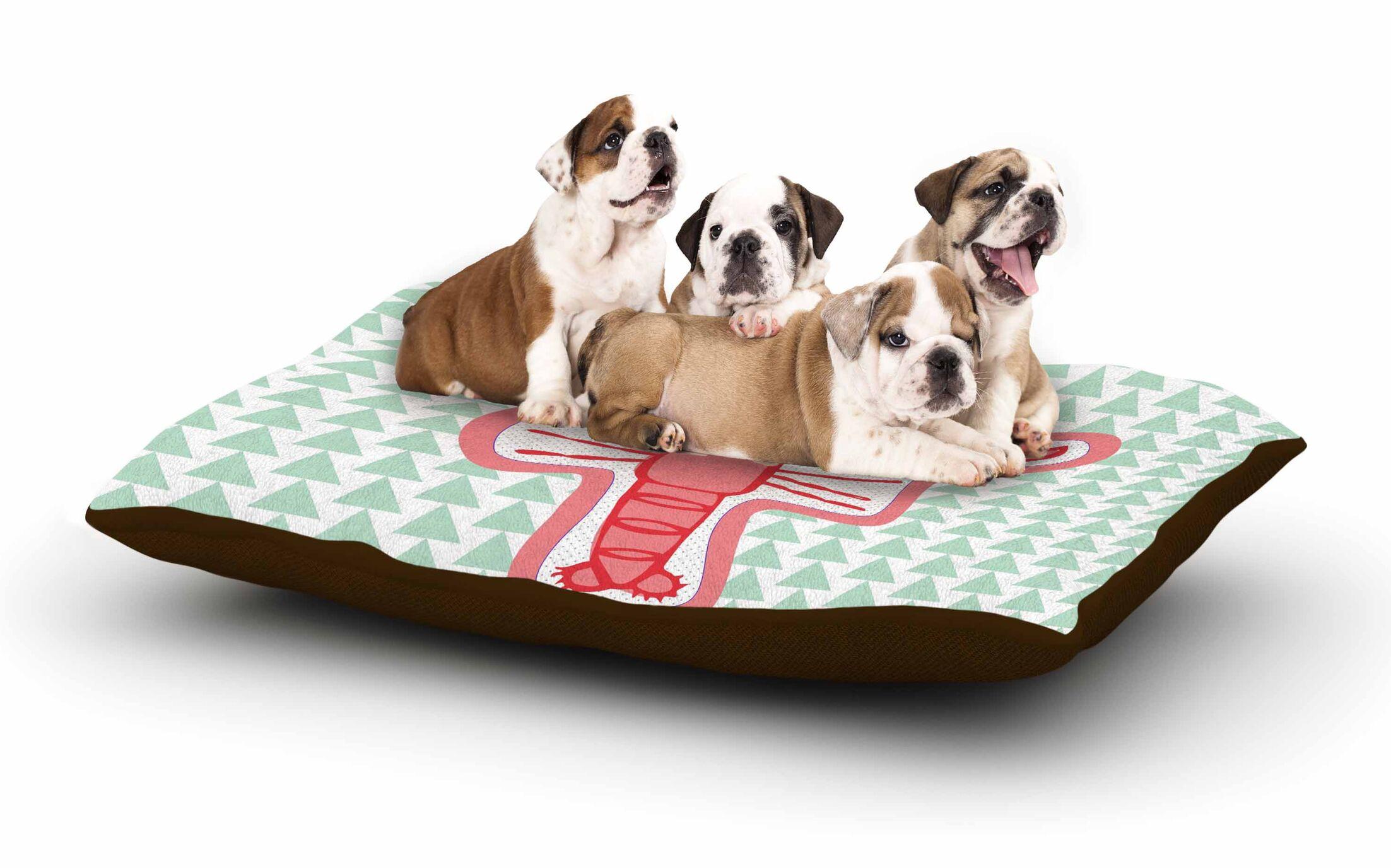 MaJoBV 'Langosta' Lobster Dog Pillow with Fleece Cozy Top