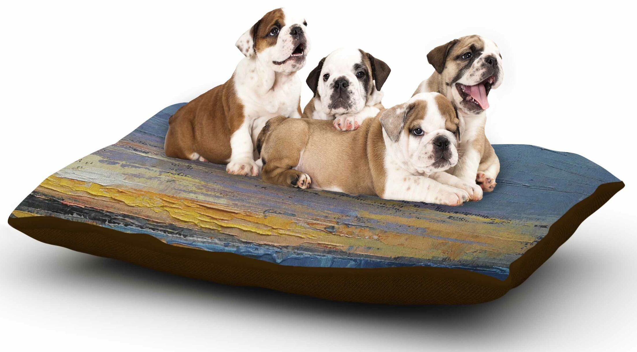 Carol Schiff 'Caribbean Sunset' Dog Pillow with Fleece Cozy Top