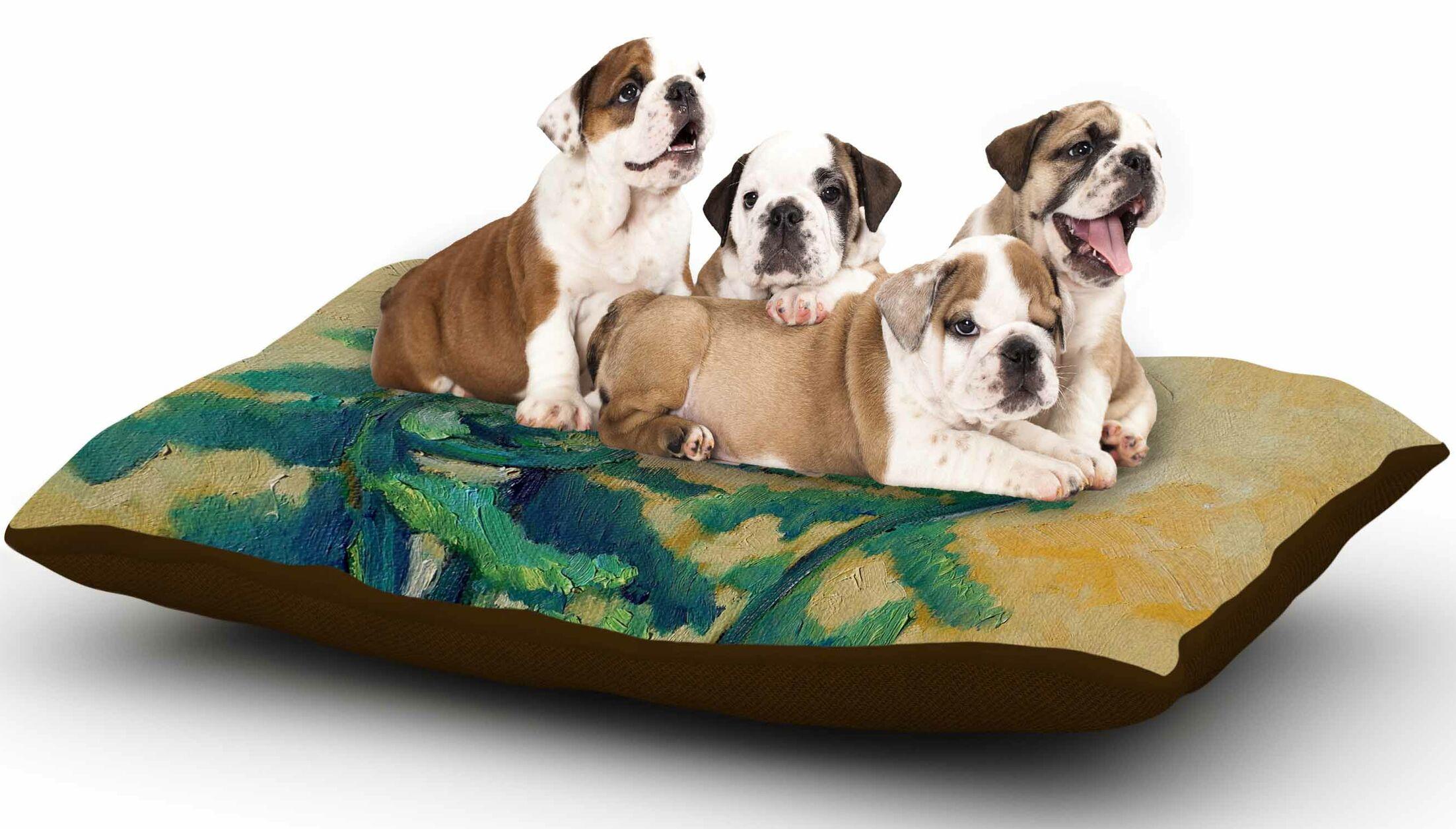 Carol Schiff 'Fiddleheads' Dog Pillow with Fleece Cozy Top