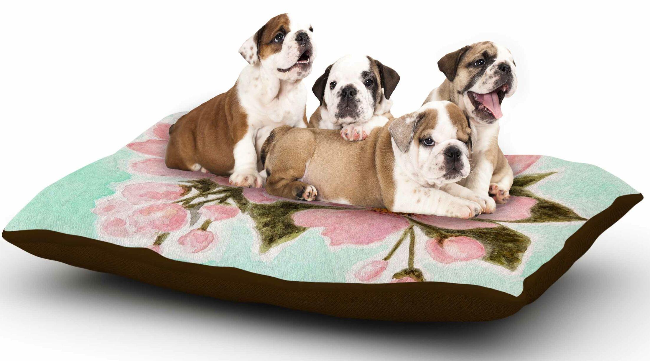 Christen Treat 'Fumiko' Dog Pillow with Fleece Cozy Top