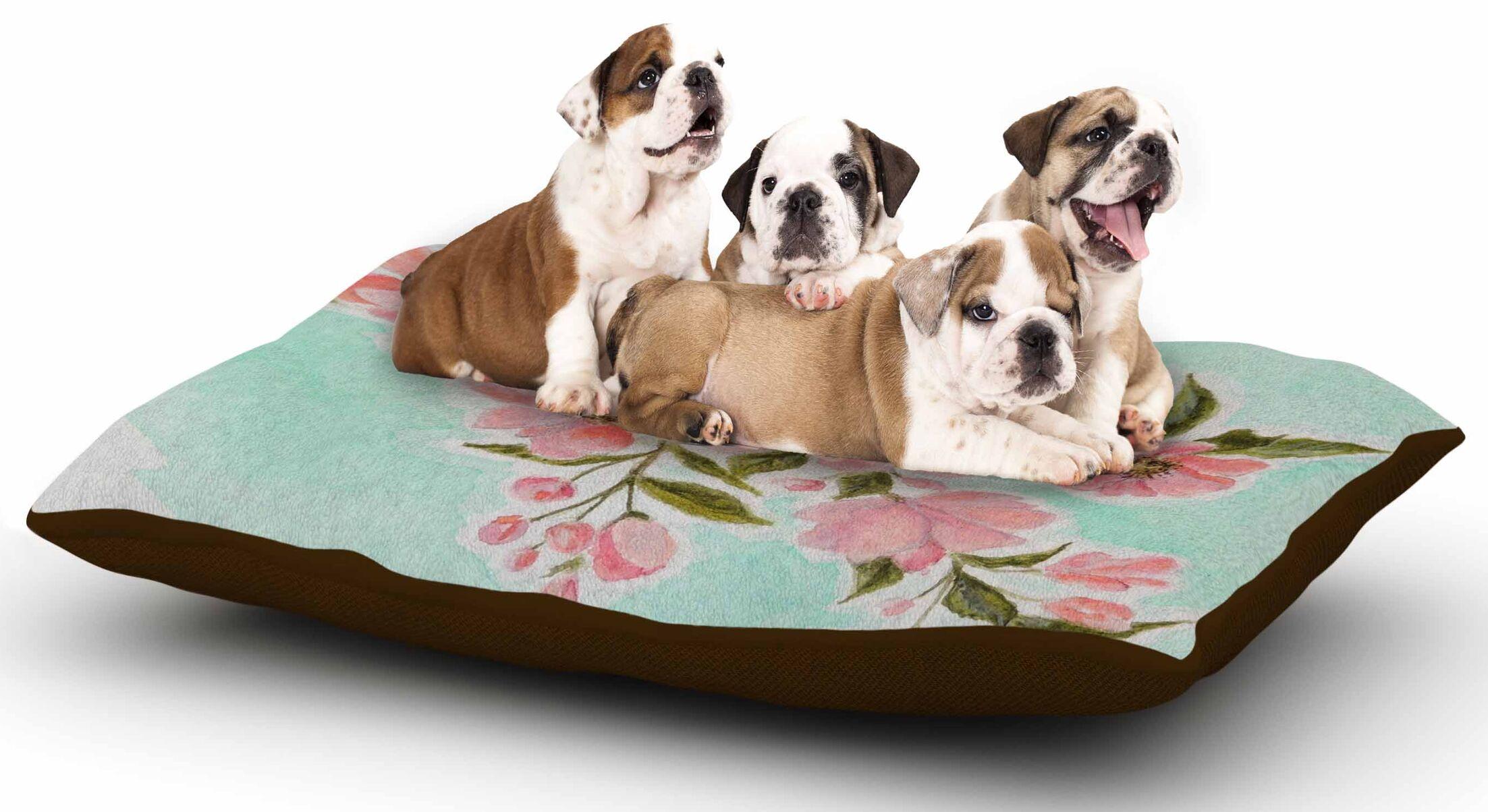 Christen Treat 'Chieko' Mint Dog Pillow with Fleece Cozy Top