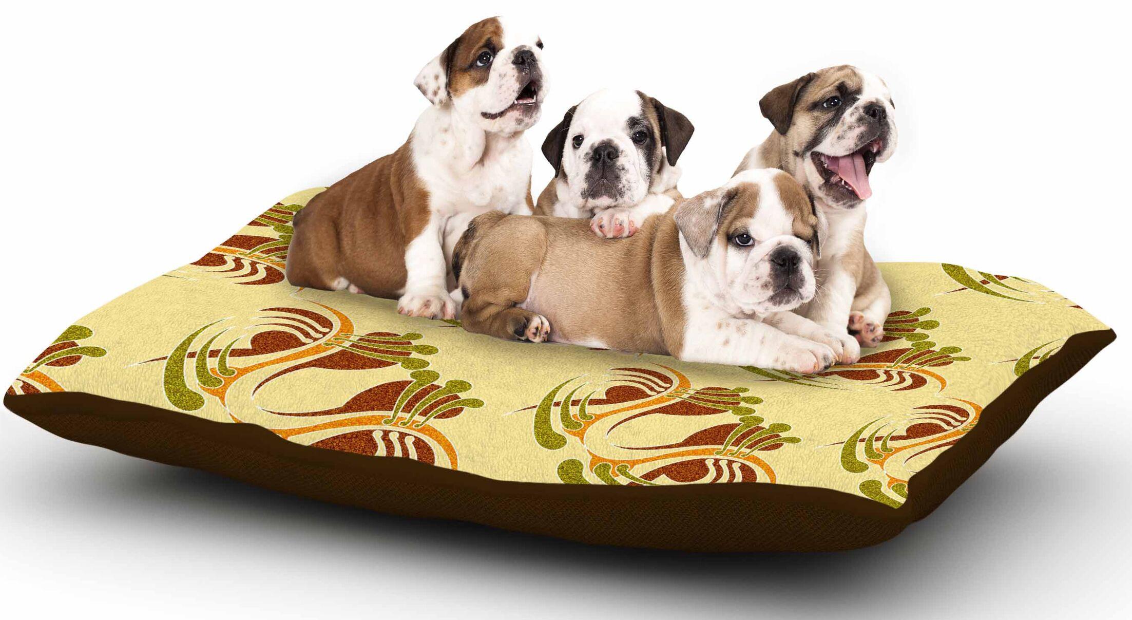 Dan Sekanwagi 'Curvaceous' Dog Pillow with Fleece Cozy Top