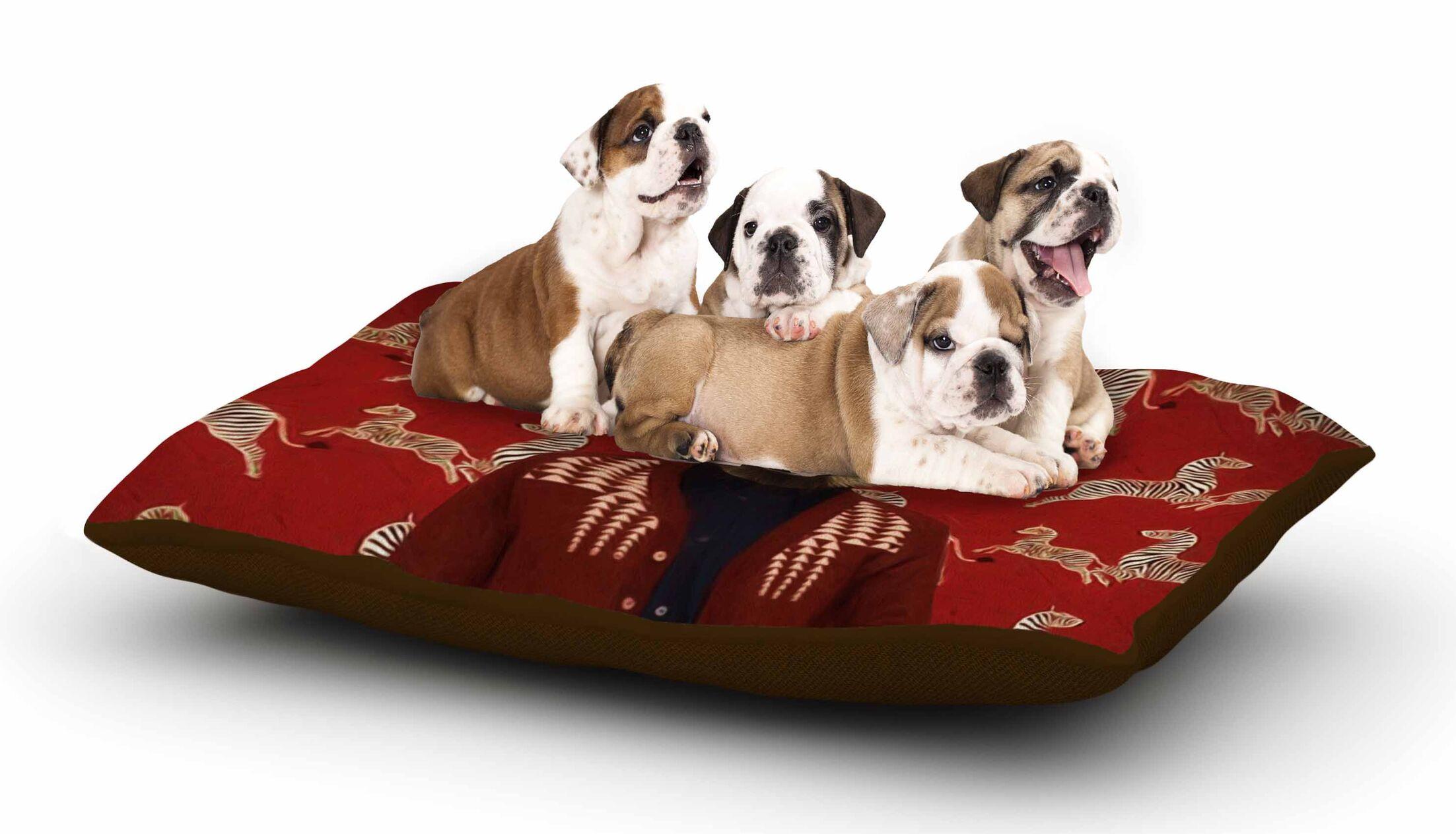 Natt 'Family Portrait N1' Fox Dog Pillow with Fleece Cozy Top