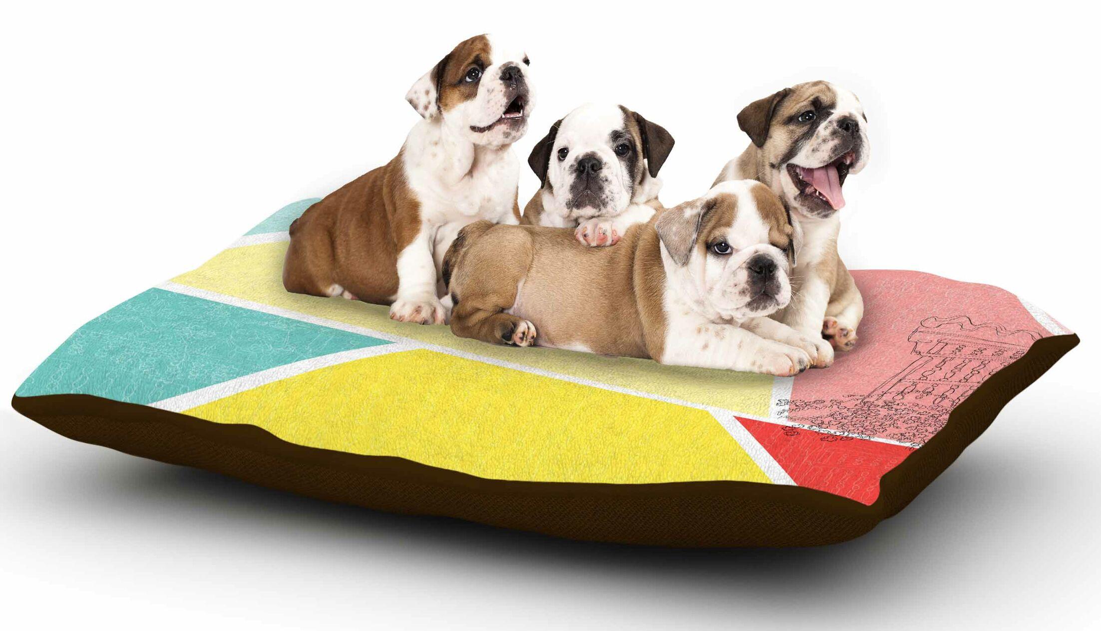 MaJoBV 'Cartagena Balconies' Dog Pillow with Fleece Cozy Top
