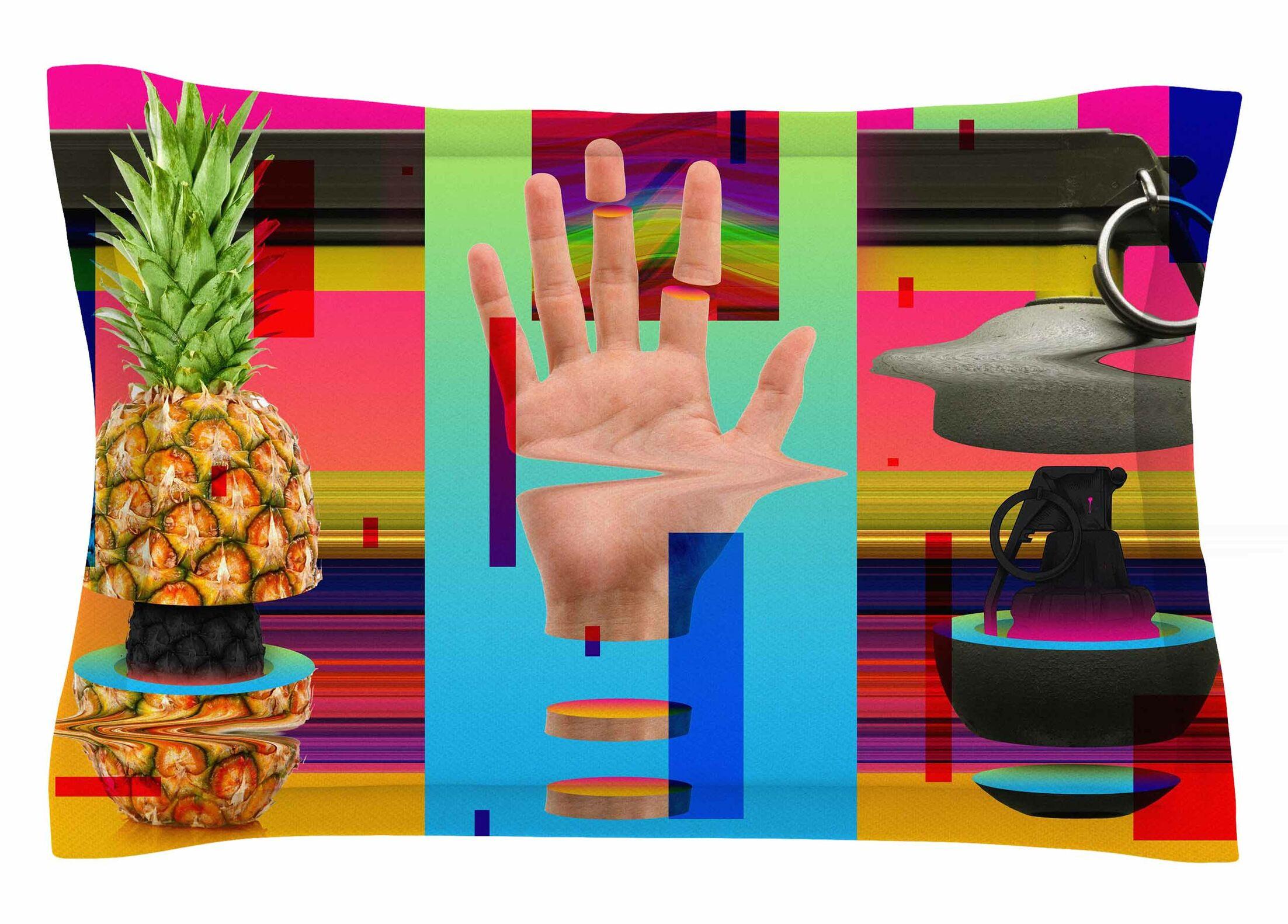 Roberlan 'Triptic' Abstract Pop Art Sham Size: King