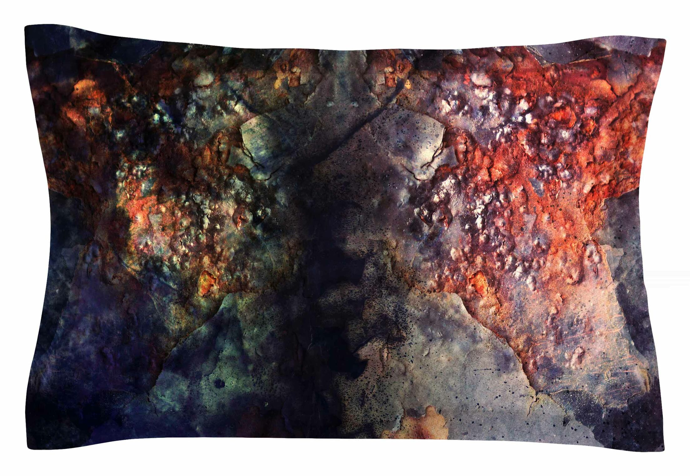 Pia Schneider 'Abstraction No12' Mixed Media Sham Size: King